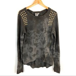 PAM & GELA tie dye distressed sweatshirt